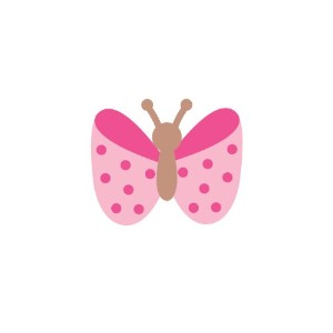 Polka Dot Butterfly Nursery Wall Decal - Pale Pink by weeDECOR