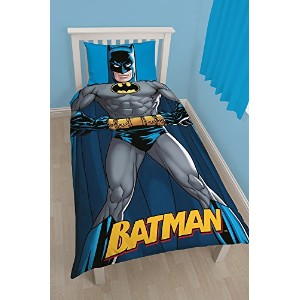 Batman Shadow Single Duvet Cover and Pillowcase Set by Batman [並行輸入品]