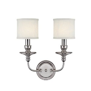 Capital照明Midtown 2-light Sconce 15 in. W x 7 in. D x 17 in. H 1232PN-451 1