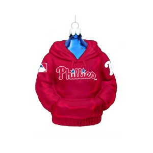 Kurt Adler 4-1/2-Inch Philadelphia Phillies Glass Hoodie Sweatshirt Ornament by Philadelphia Phillies [並行輸入品]