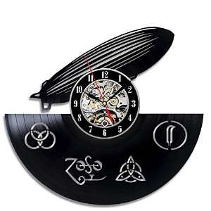 Led Zeppelin Vinyl Wall Clock Art Gift Room Modern Home Record Vintage Decoration - Win a prize for...