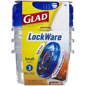 Glad Lockware Containers, Small, 3 Per Pack by Glad