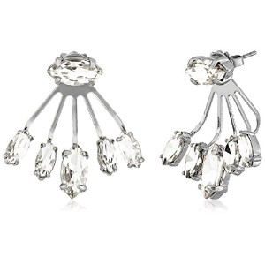Rebecca Minkoff Crystal Front Back Earrings