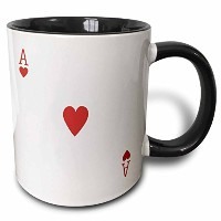 3drose 3drose Ace of Hearts Playingカード – レッドHeart Suit – のためのギフトカードゲームPlayers of PokerブリッジGames –...
