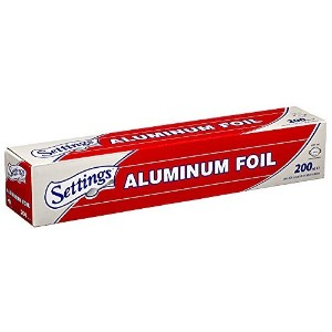 Settings Aluminum/silver Foil 12 Inch Width - 200 Feet Length (200 Sq. Ft. Total) by Settings