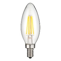 Sunlite CTC / LED / AQ / 6 W / e12 / D / CL / 50 K LED 6 W ( 60 W相当) UL ListedクリアアンティークTorpedo Tip...