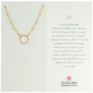 Dogeared Karma Ring onビーズスターリングシルバーチェーンネックレス