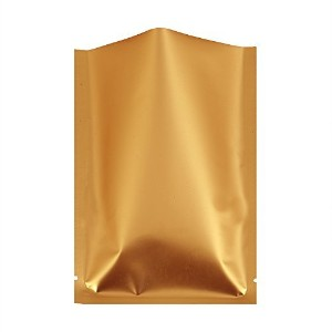 100 Premium Colored Mylar Foil Heat Sealable Bags w/ Tear Notches 8x12cm (3.1x4.7) (Gold) by QQ...