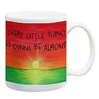 Every Little Thing is Gonna Be AlrightコーヒーマグRasta Colorsインスピレーション引用符11オンスサンセットマグ