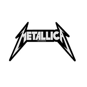 Metallica Classic Spiked Logo 公式 新しい ブラック Cut Out Patch