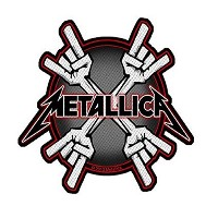 Metallica Metal Horns Logo 公式 新しい ブラック Cut Out Patch