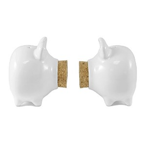 Corked Piggy Salt & Pepper Shaker Set
