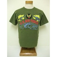 BuzzRickson's[バズリクソンズ] Tシャツ スラブ U.S.AIR FORCE (OLIVE)