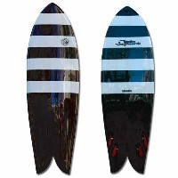 TWELVE Surfboards Quad Model Zebra 5'8""