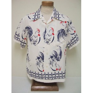 SUN SURF[サンサーフ] アロハシャツ ROOSTER (WHITE)