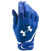 アンダーアーマー メンズ 野球 グローブ【Under Armour Spotlight Batting Gloves】Royal/Metallic Silver