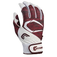 カッターズ メンズ 野球 グローブ【Cutters Power Control 2.0 Batting Gloves】White/Maroon
