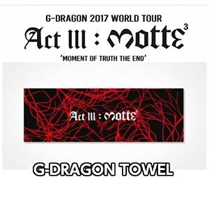 G-DRAGON [MOTTE] TOWEL small OFFICIAL MD BIGBANG G-DRAGON 2017 WORLD TOUR IN SEOUL グッズ ビッグバン 【...