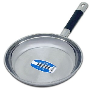 10 (25cm) 18/10 Tramontina Stainless Steel Saute / Frying Sauce Skillet Fry Pan by Tramontina