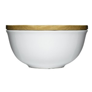 Sagaform 5015951 Stoneware Keep Bowl with Oak Lid, Large by Sagaform