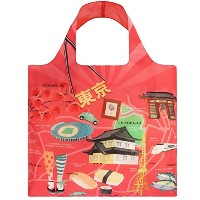 LOQI Urban Tokyo Reusable Shopping Bag, Multicolored by LOQI