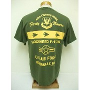 BuzzRickson's[バズリクソンズ] Tシャツ LOCKHEED F-117A FORTY NINERS (OLIVE)