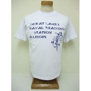 BuzzRickson's[バズリクソンズ] Tシャツ NAVAL TRAINING STATION (WHITE)