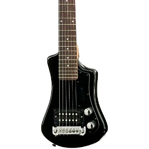 Hofner ヘフナー HCT-SH-BK-O Shorty Electric Travel Guitar with ギグバッグ ギターケース, Black エレキギター エレクトリックギター ...
