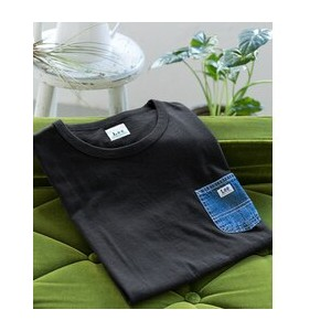 DOORS Lee×DOORS-natural- DENIM POCKET T-SHIRTS【アーバンリサーチ/URBAN RESEARCH メンズ Tシャツ・カットソー 101 BLK ルミネ...