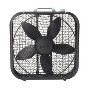 LASKO FAN 3SPEED 20inch(57x55x11CM) BOX FAN 扇風機 サーキュレーター -BLACK-