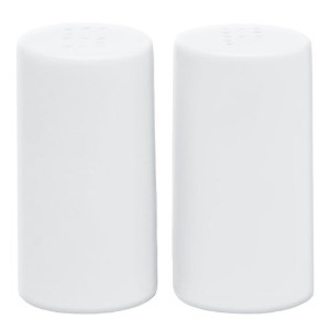 Harold Imports HIC Caféホワイト磁器Salt and Pepper Shakers Salt and Pepper Shakers ホワイト 79403