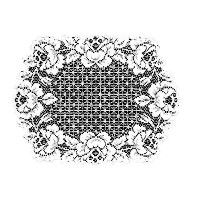 Heritage Lace Cottage Rose 14-Inch by 20-Inch Placemat, White, Set of 2 by Heritage Lace