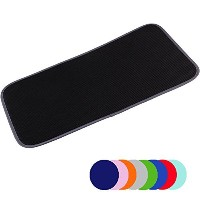Jovilife Dish Drying Mat Kitchen Mat(set of 2) Microfiber Absorbent Washable, 9*18 Inch, Black by...