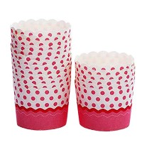 80CountホームキュートBaking Cups Cupcakes Cases Cupcakesカップ、ピンクドット