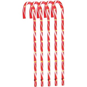 "Sienna e64h411r 26 "" Lighted Candy Cane Pathwayマーカー"