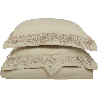 Super Soft Light Weight, 100% Brushed Microfiber, Full/Queen, Wrinkle Resistant, Tan Duvet Set with...