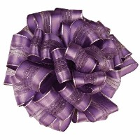 Offray Fortress Wired Edge Ribbon, 2-1/4-Inch by 22-Yard, Purple by Offray