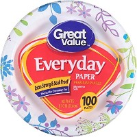 """GREAT VALUE 85/ 8"""" Heavy Duty Premium Party Paper Plates , 100ct–ColoredパターンMay Vary 8 5/8""""..."""