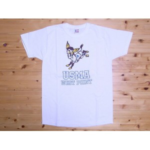 BuzzRickson's[バズリクソンズ] Tシャツ U.S. MILITARY ACADEMY BR75442 (WHITE)