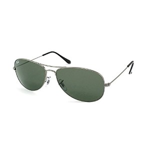 (レイバン) Ray-Ban メンズ アクセサリー サングラス Ray-Ban Cockpit RB 3362 004 Gunmetal Aviator Metal Sunglasses-59mm...
