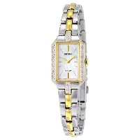 セイコー Seiko Women's SUP234 Dress Solar Analog Display Japanese Quartz Two Tone Watch 女性 レディース 腕時計 ...