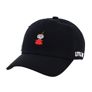 WITHMOONS 野球帽キャップ Baseball Cap Moomins Family Little My Embroidery Hat KR1721 (Black)