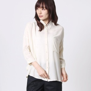 【SALE 70%OFF】セブンティ SEVENTY GEORGETTE UNITA VISCOSA SABLE' (オフホワイト)
