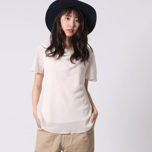 【SALE 50%OFF】コムサイズム COMME CA ISM カットソー・シフォンブラウス (ピンク)