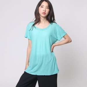 【SALE 79%OFF】ヒューマンウーマン HUMAN WOMAN outlet SUNDRY カットTシャツ (グリーン)