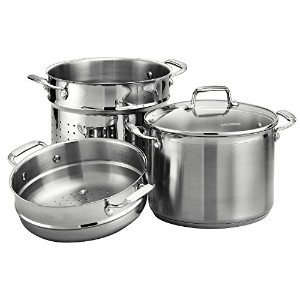 Tramontina Gourmet Tri-ply Base Stainless Steel 4-Piece 8-Quart Multi-Cooker [並行輸入品]