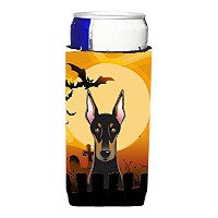 Caroline 's TreasuresハロウィンDoberman Michelob Ultra Beverage Insulator forスリム缶、マルチカラー