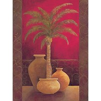 Brewster Round the World 259-74044 Pre-pasted Wall Mural Brown Potted Palm, 72-Foot Height x 54...