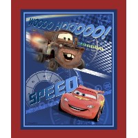 Springs Creative - Fabric Disney Cars Speed Racing Panel Fabric, Sold by The Yard, 43/44-Inch, Blue...