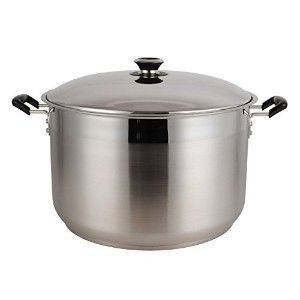 Aramco Alpine Gourmet Polish Finish Stock Pot, 0.8mm/35 quart/4225cm, Stainless Steel [並行輸入品]